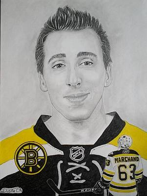 Boston Bruins Drawing - Brad Marchand by Dustin Caplette