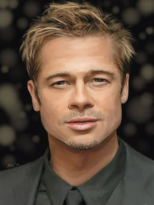 Painting - Brad Pitt by Jennifer Hotai