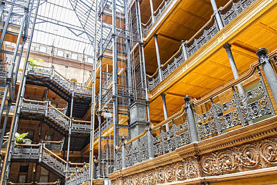 Photograph - Bradbury Building Interior by Jim Moss