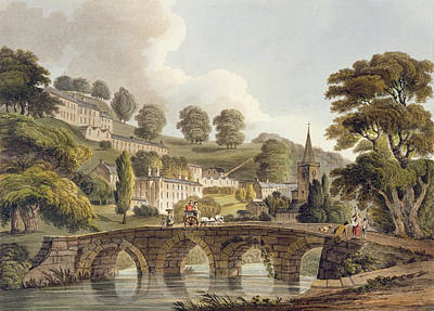Bradford, From Bath Illustrated Art Print by John Claude Nattes