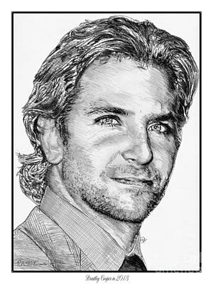 Drawing - Bradley Cooper In 2013 by J McCombie