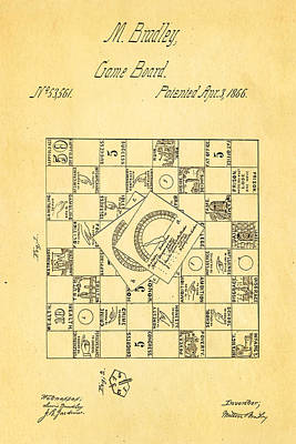 Bradley Photograph - Bradley Game Of Life Patent 1866 by Ian Monk