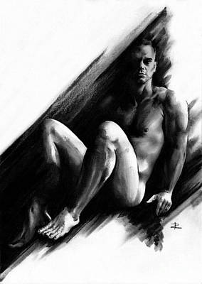 Drawing - Bradley by Paul Davenport