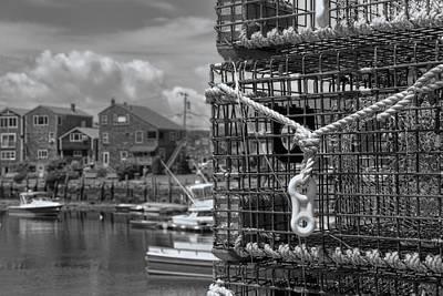 Photograph - Bradley Wharf In Black And White by Joann Vitali