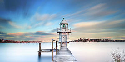Photograph - Bradleys Head Lighthouse by Bruce Hood