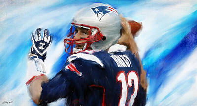 Collectible Sports Art Painting - Brady by Lourry Legarde