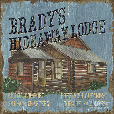 Log Cabins Painting - Brady's Hideaway by Debbie DeWitt