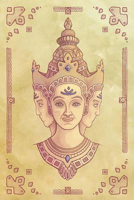 Brahma Art Print by Alden Hardee