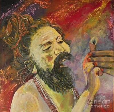 Sadhu Painting - Sadhu by Jolanta Shiloni
