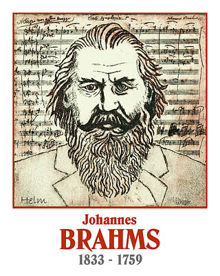 Brahms Drawing - Brahms by Paul Helm