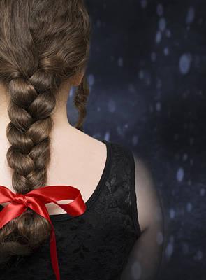 Braided Hair Art Print by Amanda Elwell