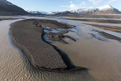 Braided River With Sandbars Art Print by Dr Juerg Alean