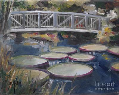 Braidge At Kanapaha Gardens In Gainesville Florida Art Print by Mary Hubley