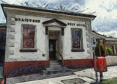 Digital Art - Braidwood Post Office by Fran Woods