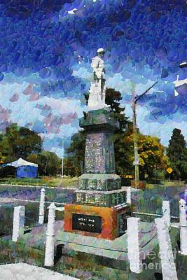 Digital Art - Braidwood  War Memorial by Fran Woods