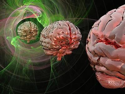 Brain Activity, Conceptual Artwork Art Print