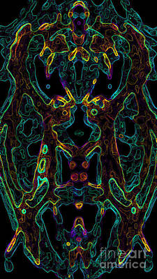 Digital Art - Brain Activity Variation 4 by Devin  Cogger
