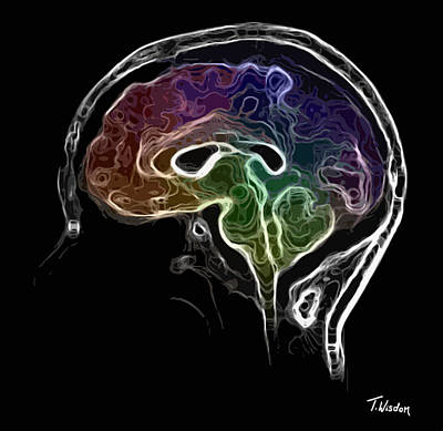 Shower Head Digital Art - Brain And Mind by Tylir Wisdom