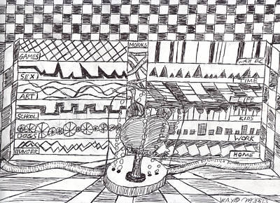 Psychiatric Drawing - Brain At Work In A Jar by Allen Yoakum
