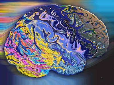 Brain Colours Art Print by Soumya Bouchachi