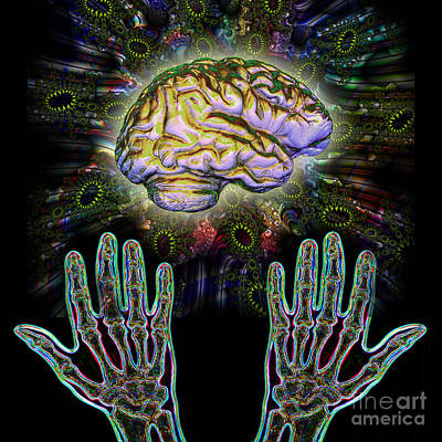 Photograph - Brain Hands Energy by Dennis D Potokar