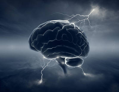 Thoughts Photograph - Brainstorm by Johan Swanepoel