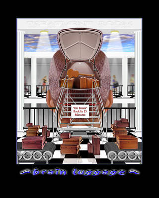 Surrealism Royalty-Free and Rights-Managed Images - Brain Luggage by Mike McGlothlen