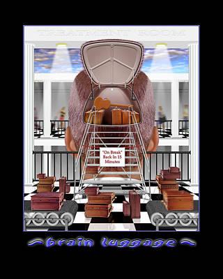 Surrealism Royalty Free Images - Brain Luggage Royalty-Free Image by Mike McGlothlen