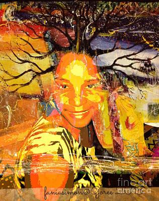 Faith Hope And Love Mixed Media - Brain Of Baobab by Fania Simon