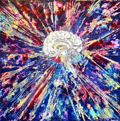 Neuroscience Painting - Brain Power by Judith Killgore