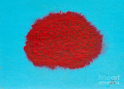 Brain Red Art Print by Stefanie Forck
