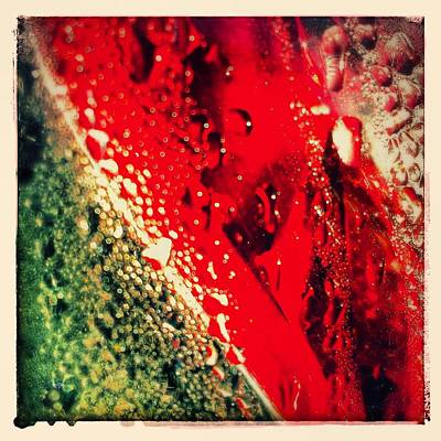 Abstract Wall Art - Photograph - Brake Light 2 Google Version by Jason Michael Roust