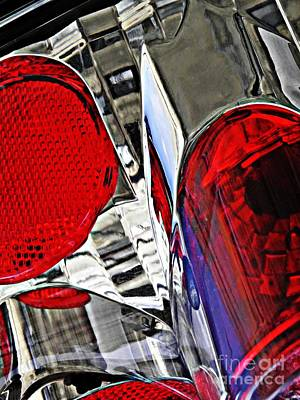Photograph - Brake Light 35 by Sarah Loft