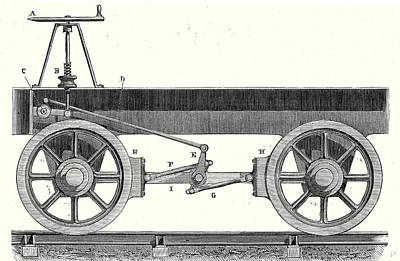 Pinion Drawing - Brake Of A Wagon by English School