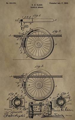 Stop Mixed Media - Brake Patent by Dan Sproul