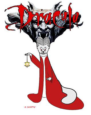 Dracula Digital Art - Bram Stokers Dracula by Brian Dearth