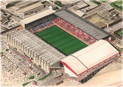 Sports Paintings - Bramall Lane - Sheffield United by Kevin Fletcher