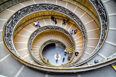 Photograph - Bramante Spiral Staircase In Vatican City by Pablo Lopez