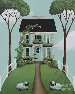 Brambleberry Cottage Art Print by Catherine Holman