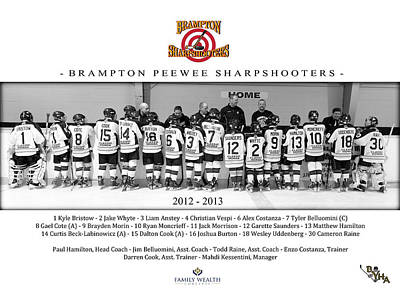 Youth Hockey Photograph - Brampton Sharpshooters by Rob Andrus