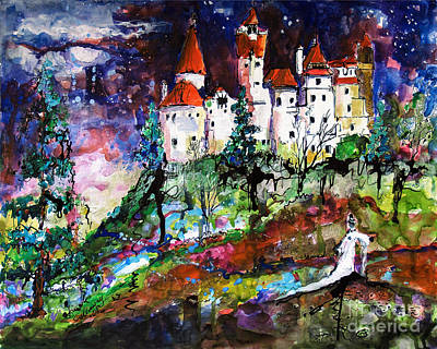 Painting - Bran Castle Dracula Lives Here by Ginette Callaway