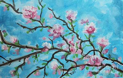 Painting - Branches In Bloom by Elizabeth Robinette Tyndall