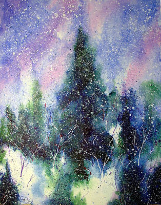 Winter Solstice Wall Art - Painting - Branching Paths Of Snow by Nelson Ruger