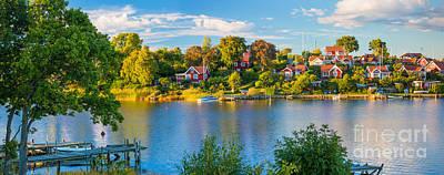 Sverige Photograph - Brandaholm Panorama by Inge Johnsson