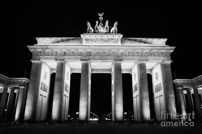 Brandenburg Gate At Night Berlin Germany Art Print