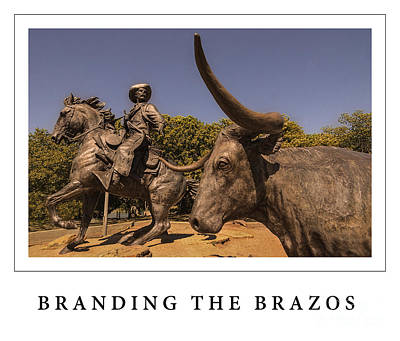Cattle Drive Photograph - Branding The Brazos Poster by Priscilla Burgers