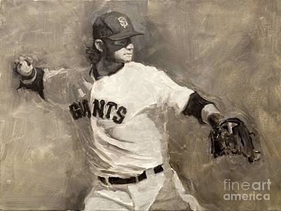 Brandon Crawford Art Print by Darren Kerr