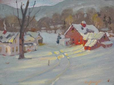 Painting - Brandon Farm by Len Stomski