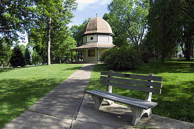 Photograph - Brandon Park Bench And Gazebo by Gene Walls