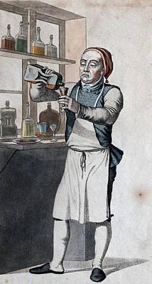 Brandy, Brandywine Distilling. Historic Engraving Print by Danish School